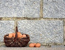 چند تا تخممرغ به یه سبد؟